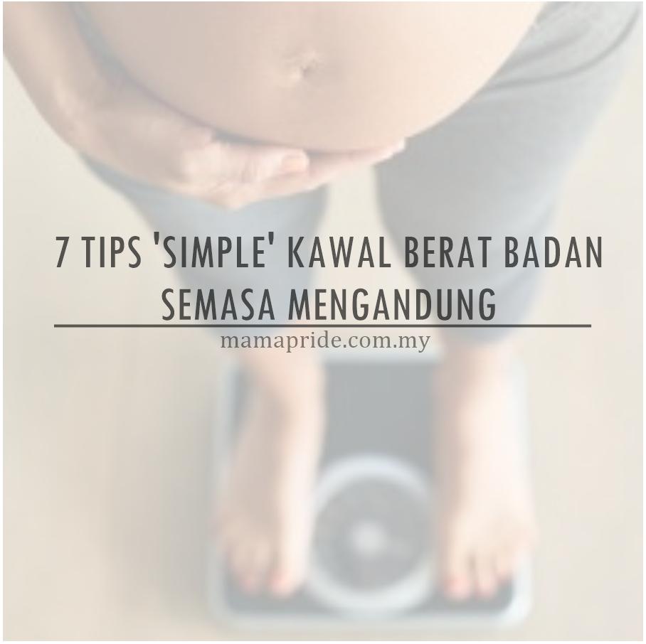 Tips Kurangkan Berat Badan Ketika Hamil